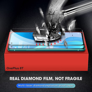 Image 3 - SmartDevil Diamonds Screen Protector for OnePlus 8T Explosion proof HD Full Cover glass For OnePlus 7 Anti fingerprint Anti drop
