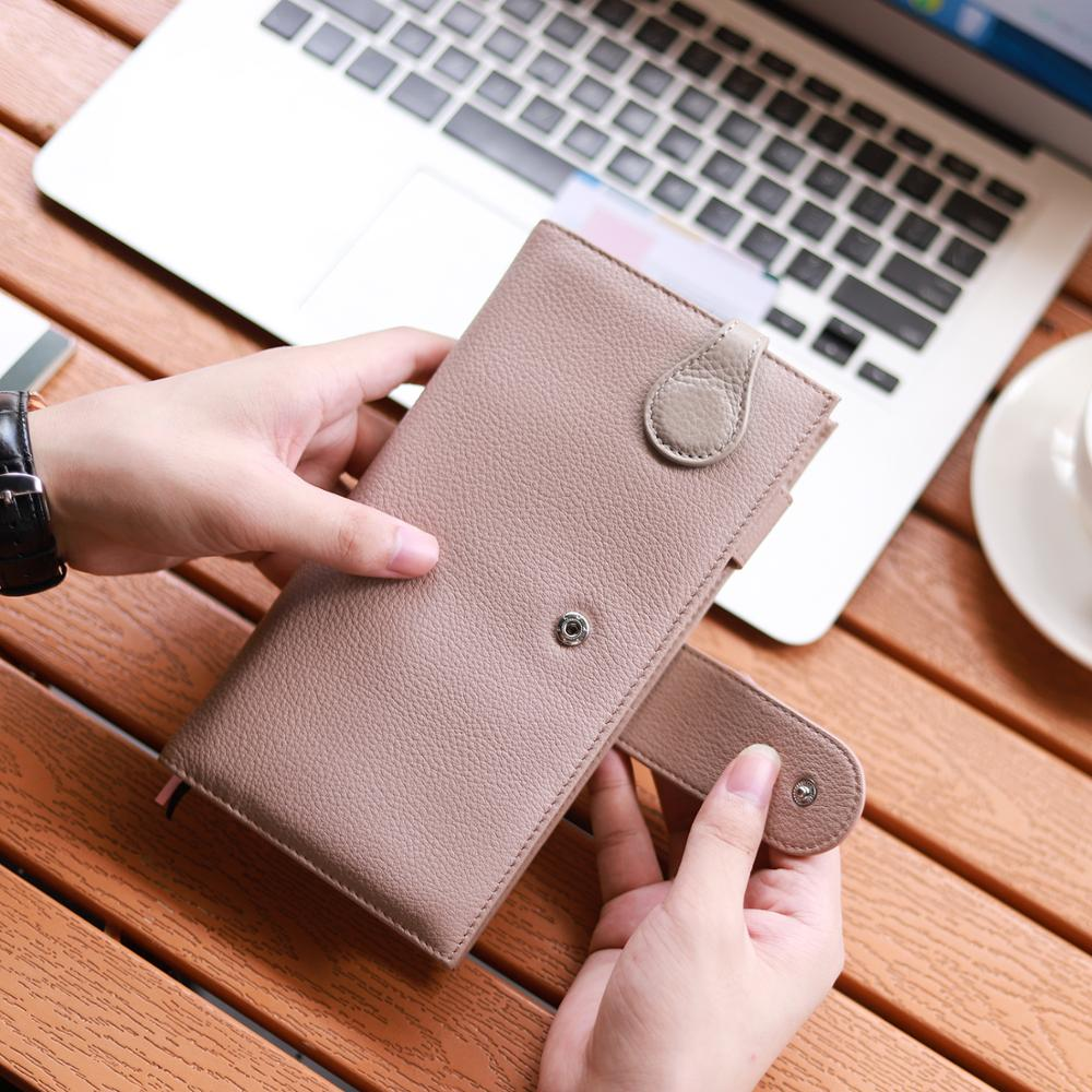 Moterm Genuine leather Magnetic Clip Durable Notebook Accessory Planner Decoraction Strong Magnetic force Paper Clip Bookmark 6