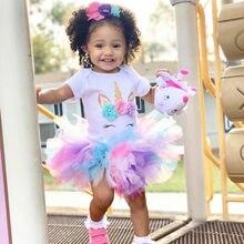 Детское платье с единорогом, на возраст 1 год