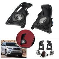 Car Front Bumper Fog Light Kits w/ Switch Wire Covers Daytime Runing Light DRL For Toyota Highlander 2017 2018 2019