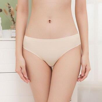 3 pcs big size butt Silk Sexy Women Thongs g string Seamless Panties Female Underwear Tanga Panties Women Low-Rise Lingerie 3