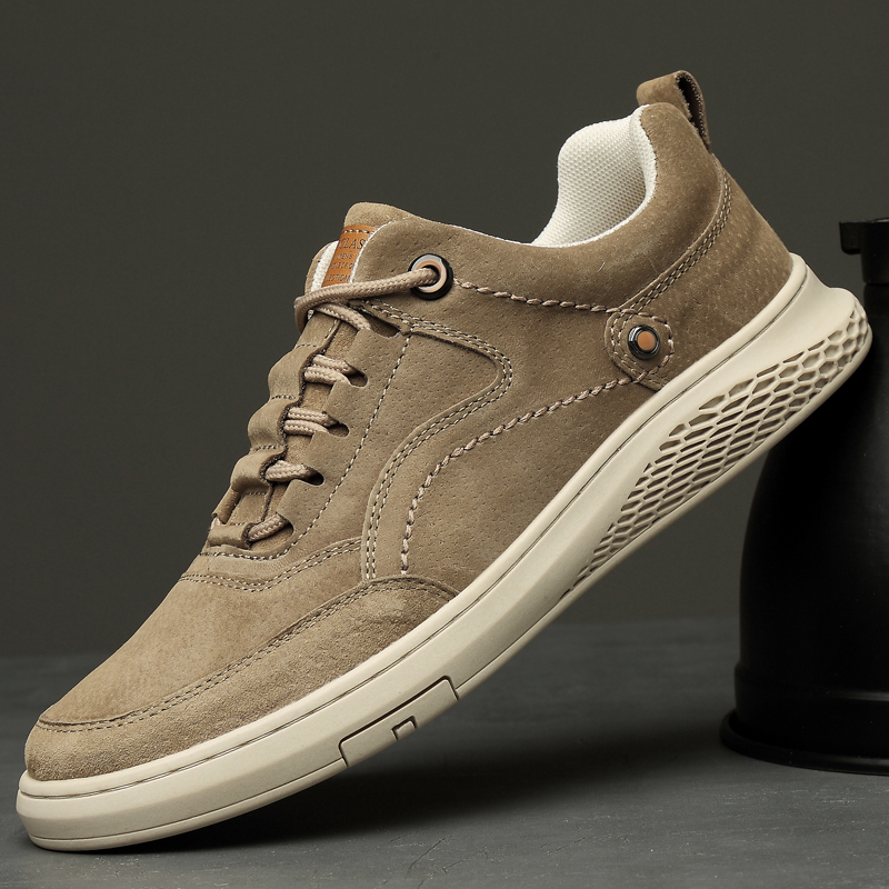 2020 New Lightweight Men's Leather Sneakers, Outdoor Casual Shoes Men's Sneakers,Breathable and Comfortable Men's Shoes(China)