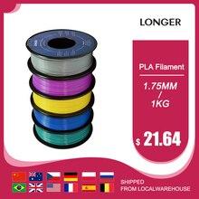 LONGER PLA Filament 1.75mm PLA For 3D Printer 1KG per Roll PLA Material 11 color for 3D Printing Filament pla 3d printer