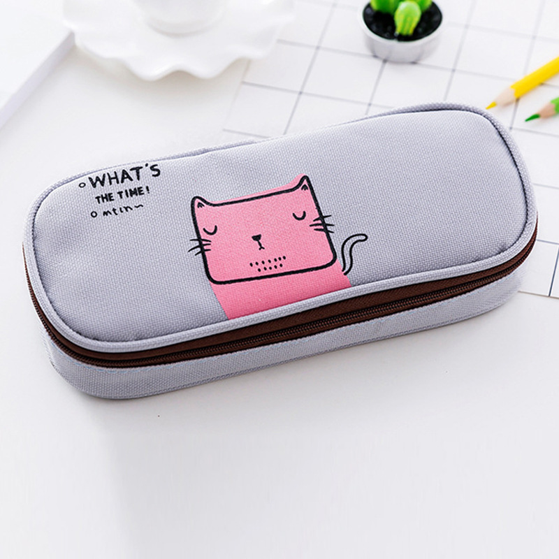 Korea 39 s new student stationery minimalist pencil case multifunctional flip pencil case in Pencil Bags from Office amp School Supplies