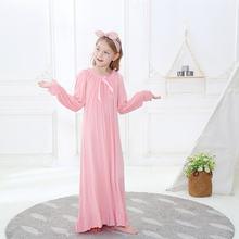 Детская ночная рубашка пижама для девочек осень 2020 белые розовые