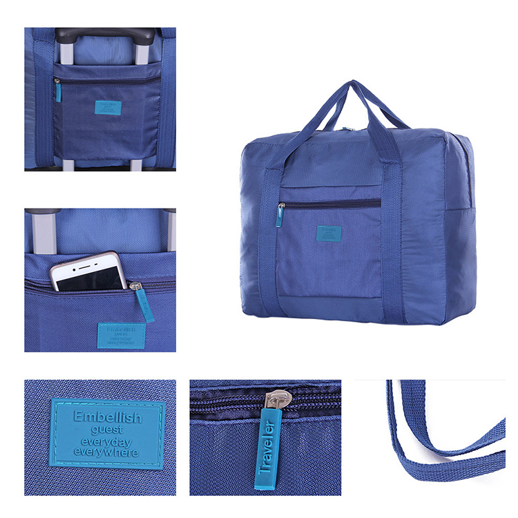 Large Size Foldable Travel Bag Waterproof Clothes Luggage Carry-on Organizer Hand Shoulder Duffle Bag