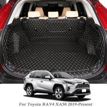Toyota rav4 xa50 2019 현재 자동차 시동 매트 뒷 트렁크 라이너 카고 플로어 카펫 트레이 보호대 액세서리 매트