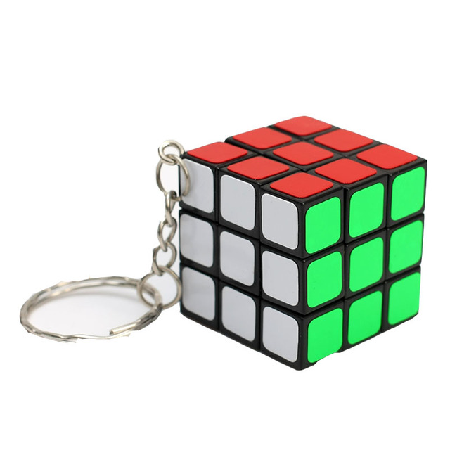 cheapest 3x3x3 ZCUBE Mini 3rd order Keychain Magic Cubing Speed  Puzzle Educational Toy For Children Kids 1