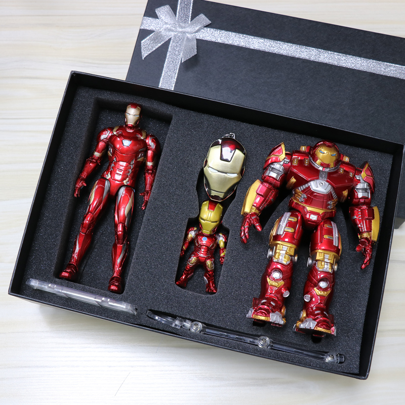 17cm Hulkbuster Shining Iron Man PVC Joint Movable Armor Action Figure Anime Collection Model Toys With Gift Box