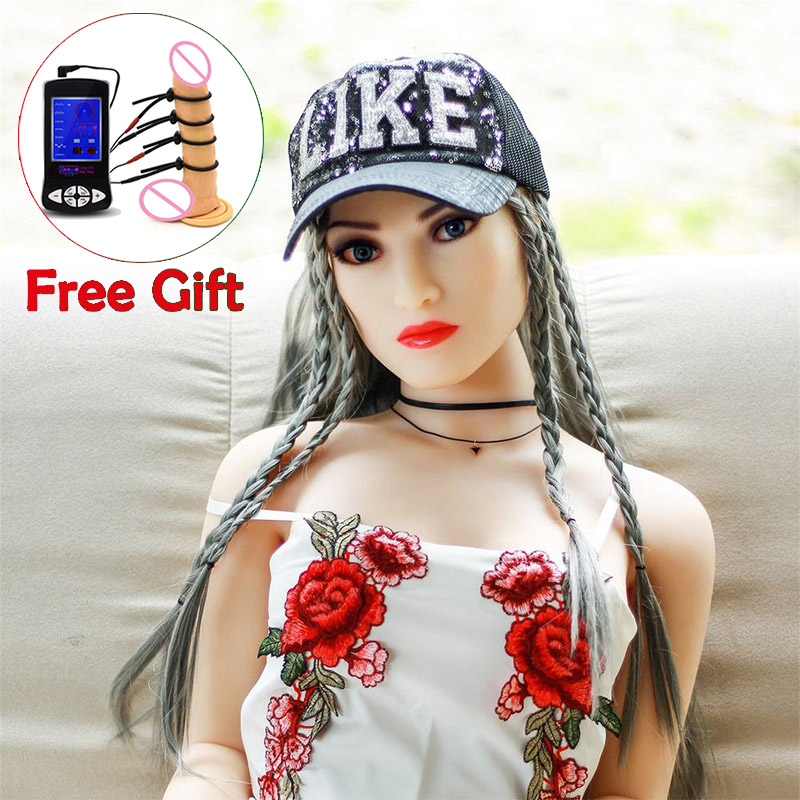 140cm Real Silicone <font><b>Sex</b></font> <font><b>Dolls</b></font> Robot Janpanese Anime Full Love <font><b>Doll</b></font> Realistic Toys for Men Big Breast Sexy Mini Vagina Adult Life image