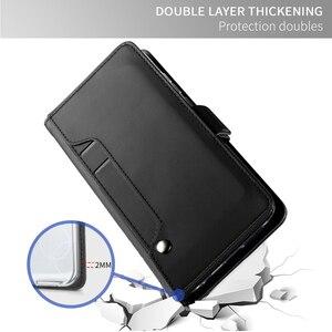 Image 5 - Pour Motorola Moto G8 Play Moto G8 Plus étui en cuir support à rabat portefeuille avec couvercle miroir pour Motorola Moto E6 jouer étui fente pour carte