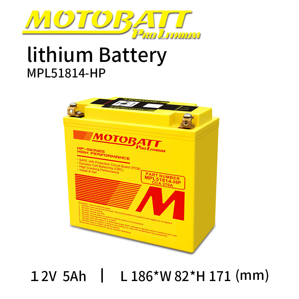 Motobatt <font><b>Lithium</b></font> ion LifePo4 <font><b>Battery</b></font> <font><b>12V</b></font> <font><b>5Ah</b></font> 370CCA Bateria Moto BMS Voltage Protection Universal Maintenance free High Quality image