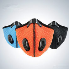 Dustproof Anti-fog Haze 3D Training Running Punched Sheet Printed Face Mask Riding Outdoor Mask Activated Carbon Equipment Acces(China)