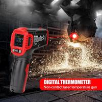 HT650 Infrared Laser Thermometer Gun Handheld Non contact Digital Pyrometer