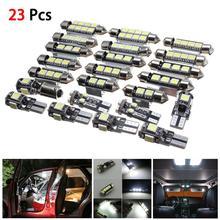 23 шт. светодиодные лампы для освещения салона автомобиля лампы комплект для BMW X5 E53 2000-2006 БЕЛЫЙ