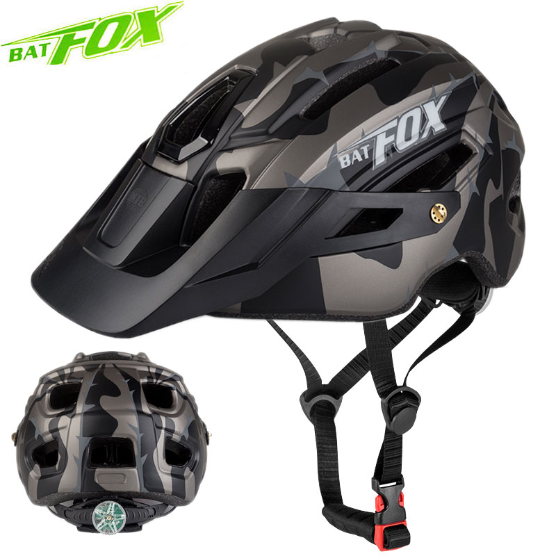 Batfox Bicycle Helmet Safty-Cap Mountainbike Big-Visor Road New Sport Outdoor MTB In-Mold title=