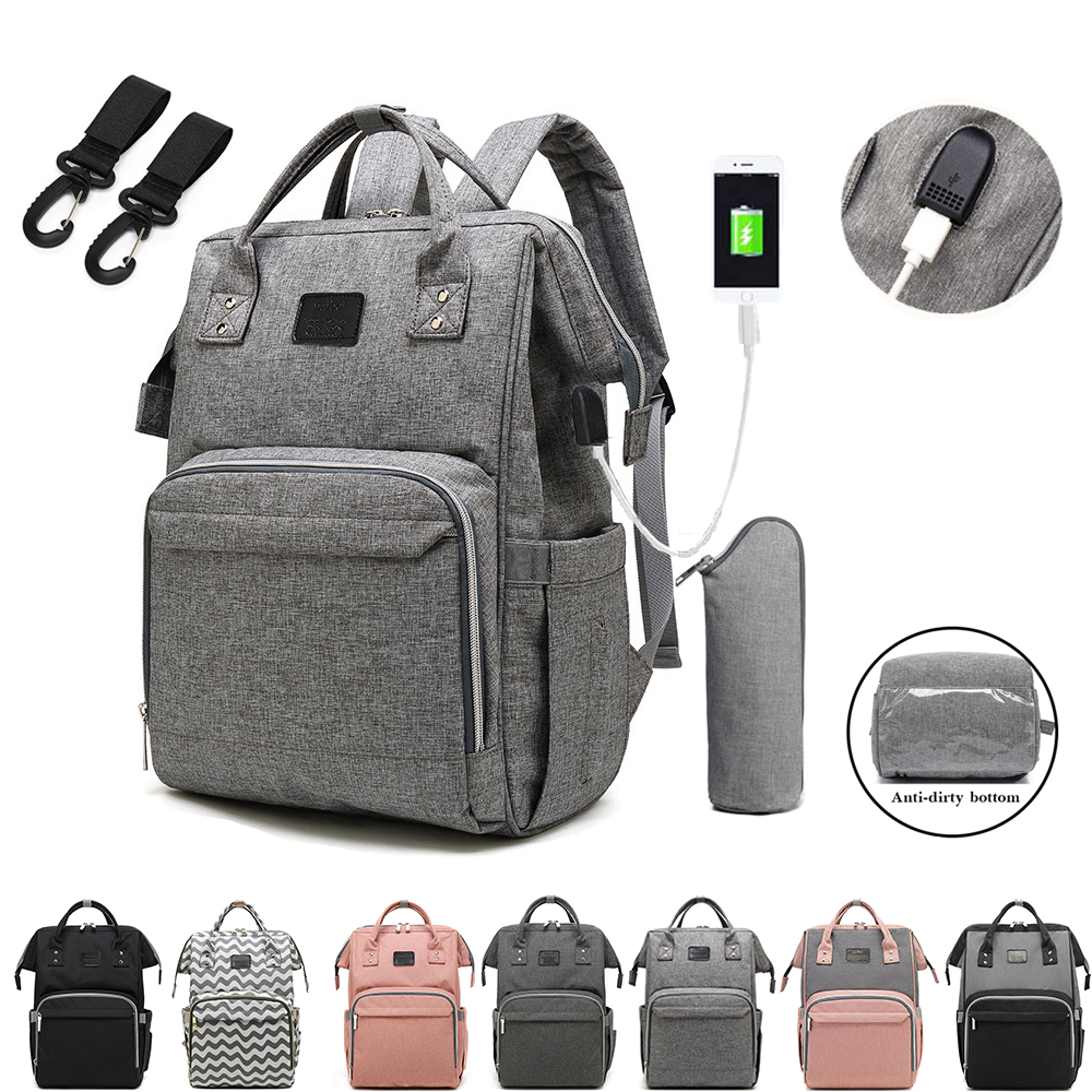 Nappy Backpack Bag Mummy Large Capacity Bag Mom Baby Multi-function Waterproof Outdoor Travel Diaper Bags For Baby Care 1
