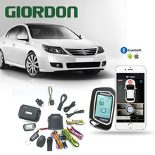 GIORDON 2 weg auto alarm pke keyless entry lcd pager display vibration alarm universal auto auto keyless entry system dc12v