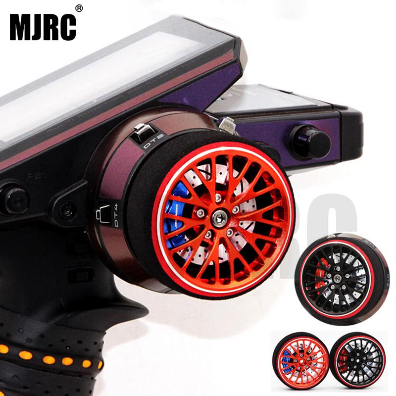 MJRC Black Red Metal Remote Control Handwheel For FUTABA RZ-D FUTABA 3PV 4PV 4PL S 4PX R 7PX 4PK 4PKS R KO-EX1 Remote Control