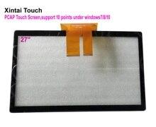 Быстрая доставка! 27 дюймовый емкостный сенсорный экран, 27 дюймов, 10 точек, отображаемые емкостные сенсорные панели, накладки для ЖК монитора