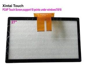 """Image 1 - Expédition rapide! Écran tactile capacitif de 27 pouces 27 """"10 points ont projeté des superpositions multi écrans tactiles capacitifs pour moniteur LCD"""