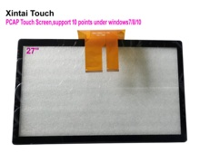 Fast Shipping! 27 inch capacitive touch screen 27 10 points projected capacitive multi touch panel overlays for LCD monitor new 7 inch touch screen for 4good light at200 tablet computer multi touch capacitive panel handwriting screen free shipping
