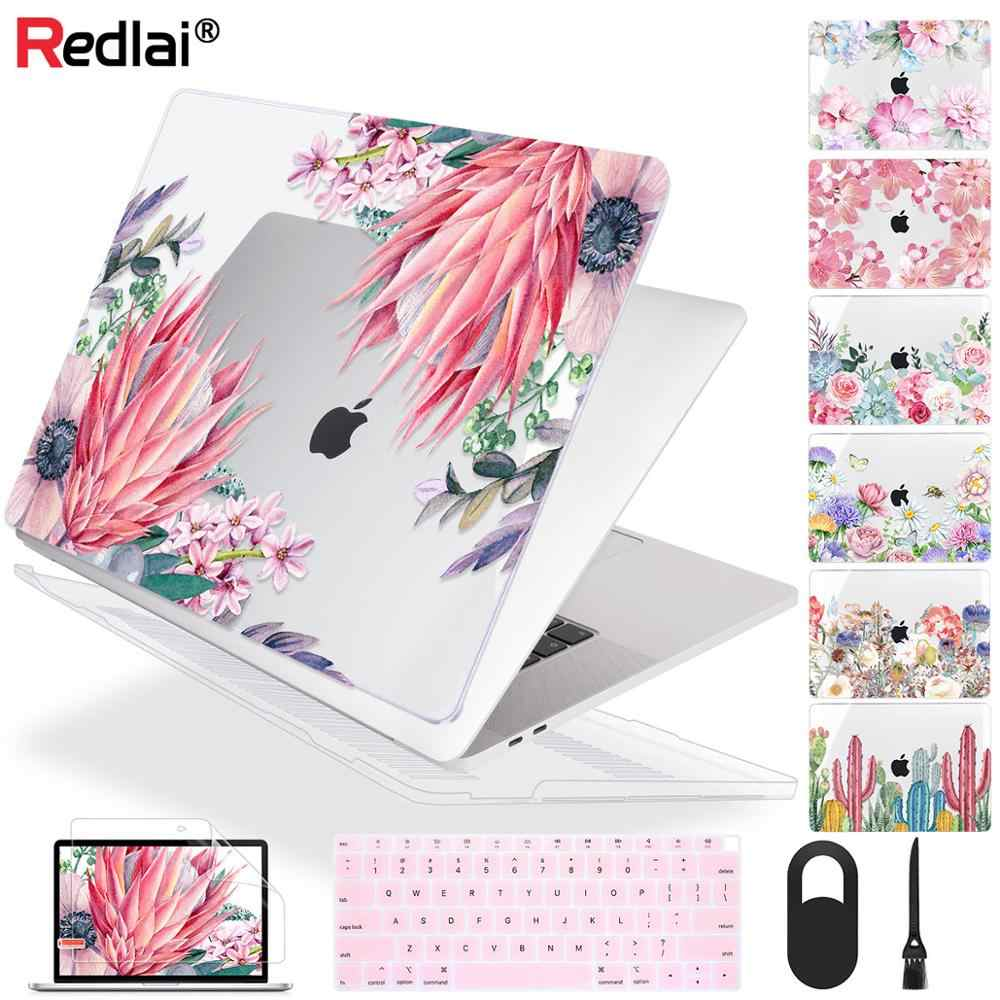 Redlai Bloem Soft Touch Laptop Case Voor Macbook Pro 13 16 Inch 2020 A2289 A2141 A2159 Cover Voor Mac Air 13 Inch A2179 A1932 A1466