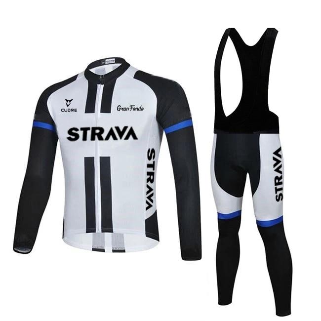 Трикотажный комплект для велоспорта STRAVA, Весенняя профессиональная велосипедная команда, велосипедная одежда с длинным рукавом, высококач...