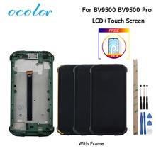 Blackview BV9500 Bv9500 בתוספת LCD תצוגת מסך מגע עם מסגרת החלפה + כלים + סרט עבור Blackview BV9500 פרו 5.7