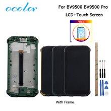 Blackview BV9500 Bv9500 artı LCD ekran ve çerçeve ile dokunmatik ekran değiştirme + araçlar + Film Blackview BV9500 Pro 5.7