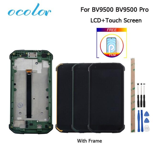 ل Blackview BV9500 Bv9500 زائد شاشة الكريستال السائل و شاشة تعمل باللمس مع استبدال الإطار أدوات فيلم ل Blackview BV9500 برو 5.7