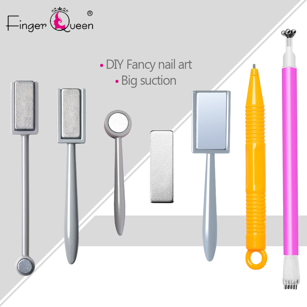 Cat Eye Magnet Nail Art Magnet Stick For Nail Gel Polish 3D Line Strip Effect Strong Magnetic Pen Tools For Gel Varnish