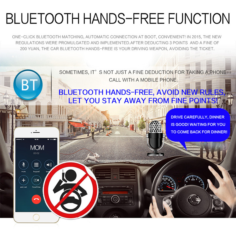 FM AUX Mp3 Car Radio Stereo Receiver 1 Din Auto Controlled Cars Bluetooth  Audio Modulator Central Multimedia Android Dvd Player