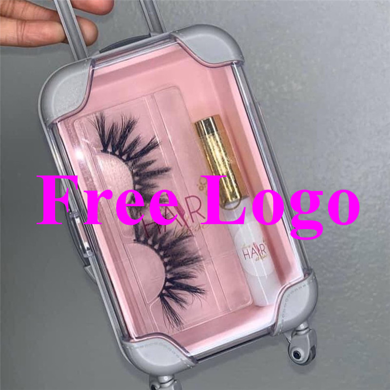 2020 Hot Selling Cute Suitcase Luggage Eyelash Packaging For Mink Lashes