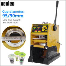 XEOLEO 실러 컵 씰링 기계 반자동 거품 차 기계 9/9.5cm 종이/PE/PP 우유 차 컵 씰 220V