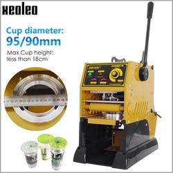 XEOLEO Manual Cup sealer Cup Sealing machine Semi-Automatic Bubble tea machine for 9/9.5cm Paper/PE/PP Milk tea cup Seal  220V