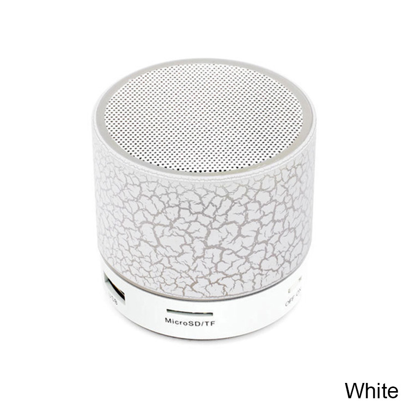 Портативный Bluetooth динамик мини беспроводной громкий динамик трещины светодиодный TF USB Сабвуфер Bluetooth динамик s Mp3 стерео аудио музыкальный плеер - Цвет: Белый