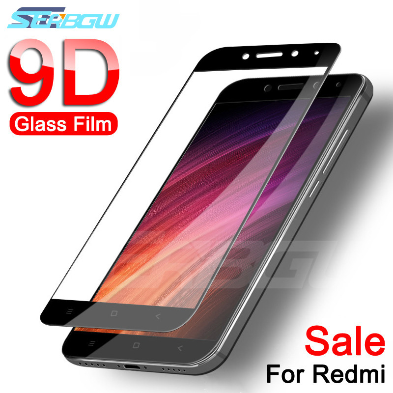 9D Protective Glass On The For Xiaomi Redmi Note 4 4X 5 5A Pro Redmi 5 Plus 5A 4X S2 Tempered Screen Protector Glass Film Case