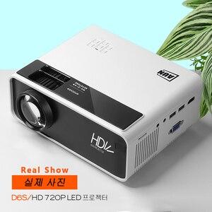 Image 5 - AUN MINI projektor LED D60, rozdzielczość 1280x720P, przenośne kino domowe, wideo 3D Beamer, opcjonalnie Android WIFI D60S, dekodowanie 1080P
