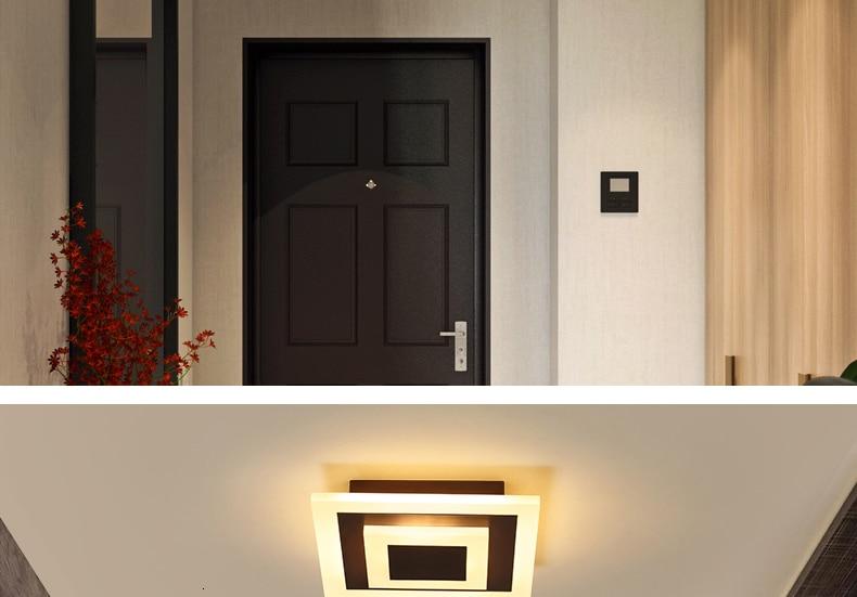 H32437b7a5a0a4be596c056ab065703e8w Modern ceiling lights 12w for hallway balcony corridor Coffe white light lamps bedroom luminaria teto acrylic lamparas de techo