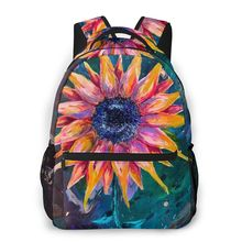 NOISYDESIGNS Painting Sunflower Backpack Sunflower Backpacks High Quality Bag Teen Men - Women Multifunctional Bags Plecak