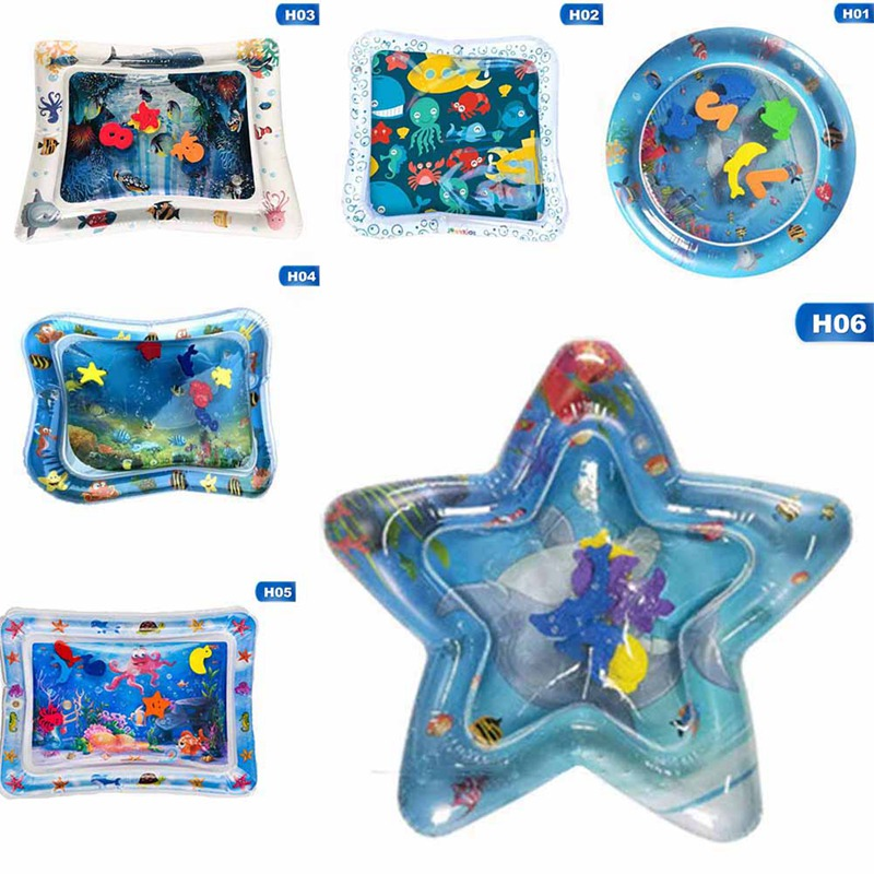 New Designs Baby Kids Water Play Mat Toy Inflatable Cartoon Sea Animal Playmat Toddler For Baby Fun Activity Play Dropship