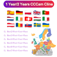 HD 1 Year CCCAM 6 lines Cline Server Account For Satellite receiver Spain UK Germany French Italy POLSAT MOVISTAR ES Spain