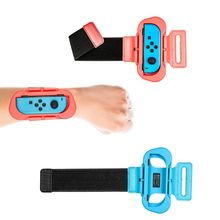цена на 1 Pair Game Wrist Band for iplay Switch for Joy-Con Controller Adjustable Just-dance Wristband Hand Straps Games Accessories
