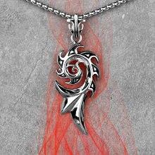 Long Totem flamme Vulcan pour hommes, colliers, pendentifs, chaîne Punk pour petit ami masculin, bijoux en acier inoxydable, cadeau créatif, vente en gros