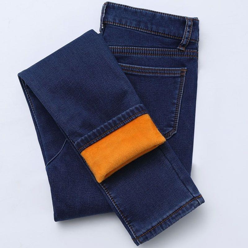 2020 Band New Winter Thick Fleece Jeans For Women Stretch Warm Skinny Denim Velvet Pencil Jeans Stretch Female Trousers
