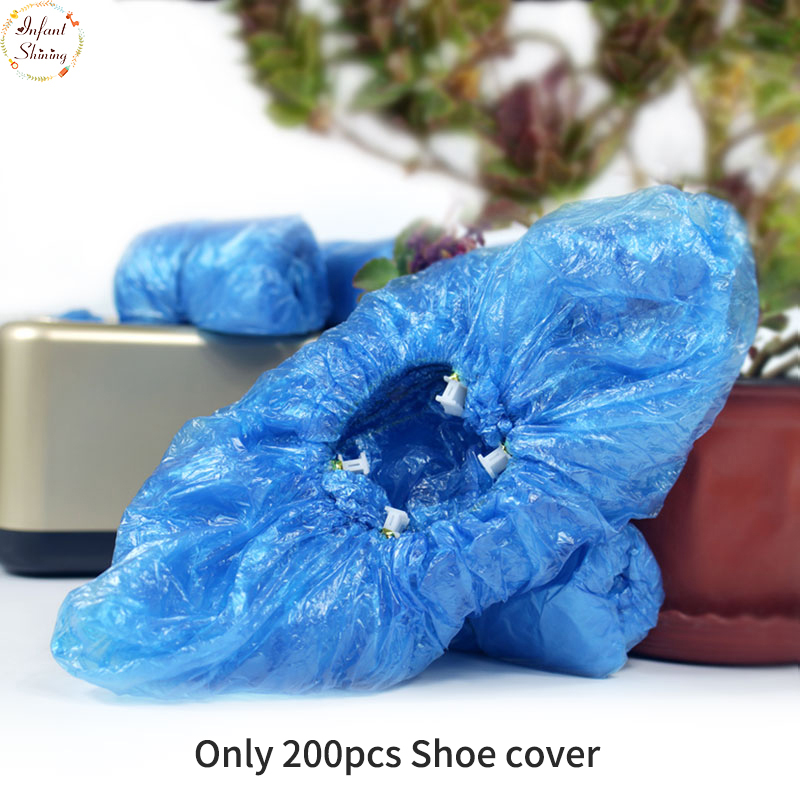200 PCS PE Shoe Cover Machine Shoe Cover Blue Disposable Convenient And Comfortable Model House High Quality Shoe Cover