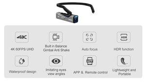 Image 2 - Ordro EP7 Video Kamera 4K Camcorder Full HD 30FPS Ultra HD Stabilisierung Wearable Wasserdichte Camara Filmadora Vlog Kamera DVR