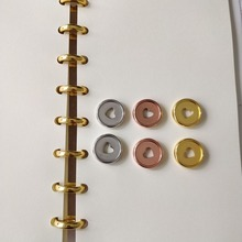 30PCS 23mm binding ring notebook mushroom hole button plastic loose-leaf coil 360 degree foldable disc buckle