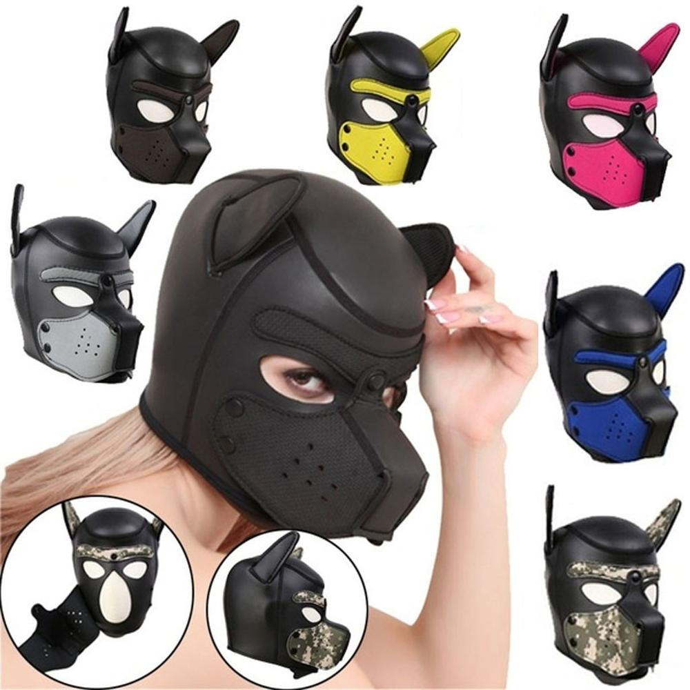 Adult <font><b>Sex</b></font> Product <font><b>Dog</b></font> restraint Hood Training <font><b>Dog</b></font> Hood Fetish Role-Playing Game <font><b>Mask</b></font> Erotic Couple Flirting Game Toy image